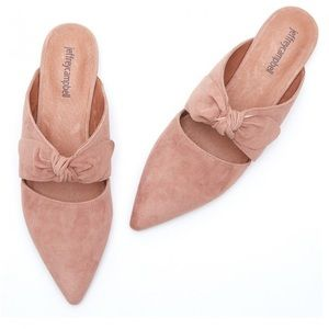 Jeffrey Campbell Charlin suede bow flat